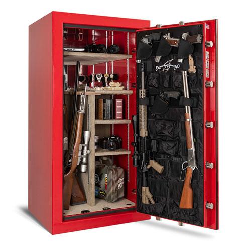 AMSEC BFX6030 Gun Safe in Rossa Cursa Red