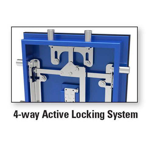 AMSEC BFX Gun Safe Series 4-Way Active Locking System