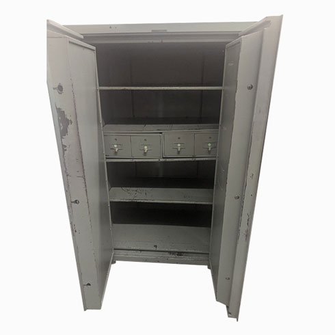 Classic Double Door Fire Security Safe by Shaw Walker Interior Shelves and Drawers