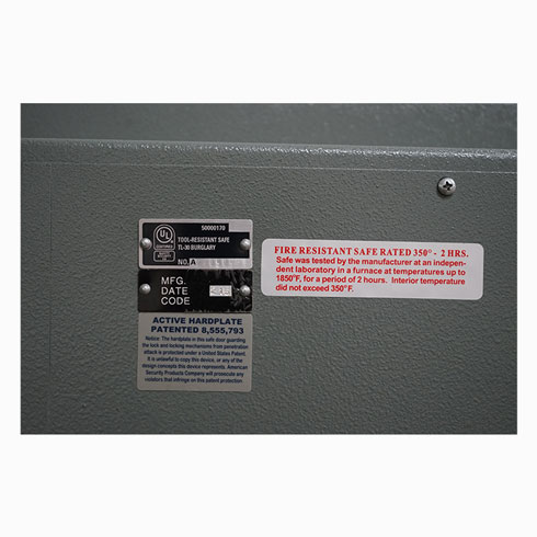 Lightly Used AMSEC CF6036 TL30 High Security Safe Security Verification