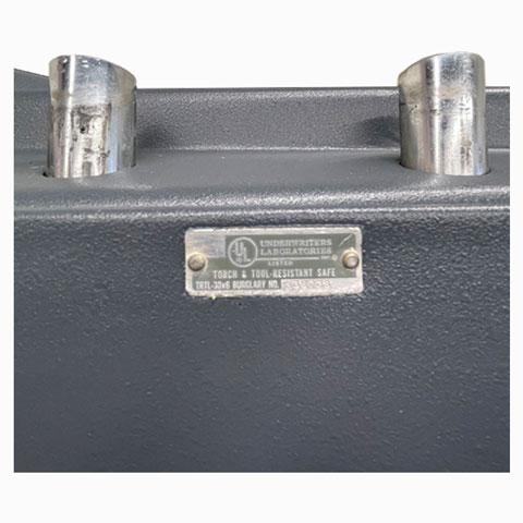 Used LORD 906ED TRTL30x6 High Security Safe UL Label